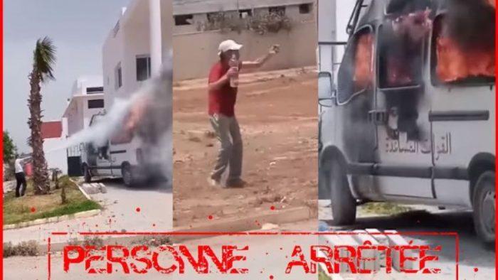 شرطة سلا تطيح بمضرم النار في سيارة للقوات العمومية