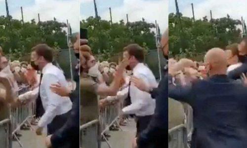 ماكرون يتلقى صفعة في اعتداء خلال رحلة داخلية