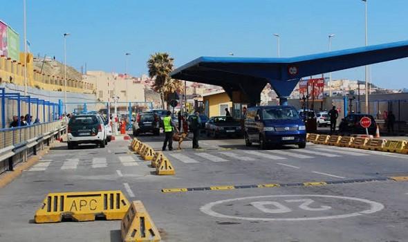 الحدود بين المغرب و سبتة ومليلة المحتلتين سيظل مغلقاً الى هذا التاريخ...